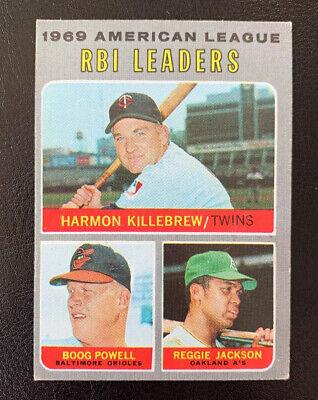 1970 Topps #64 Boog Powell Reggie Jackson Harmon Killebrew Minnesota Twins Card