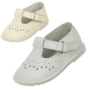 Ivory White Baby Toddler Girls Leather