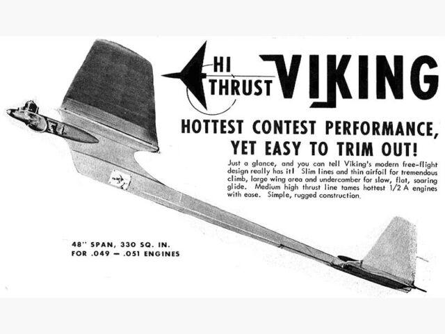 Model Airplane Plans (FF): Hi-Thrust Viking 48