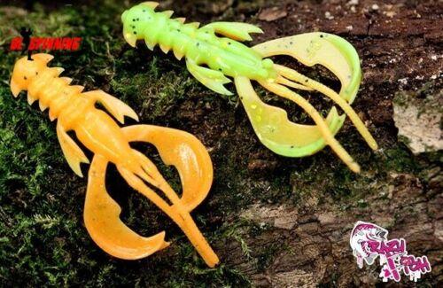 Agile Flottant Plastique Souple leurres 5 cm 8 cm Pêche écrevisse CRAZY FISH jig perche
