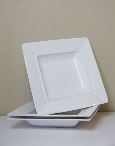 """S&P"" 3 x White Stylish Plates in Perfect Condition! North Ryde Pickup"