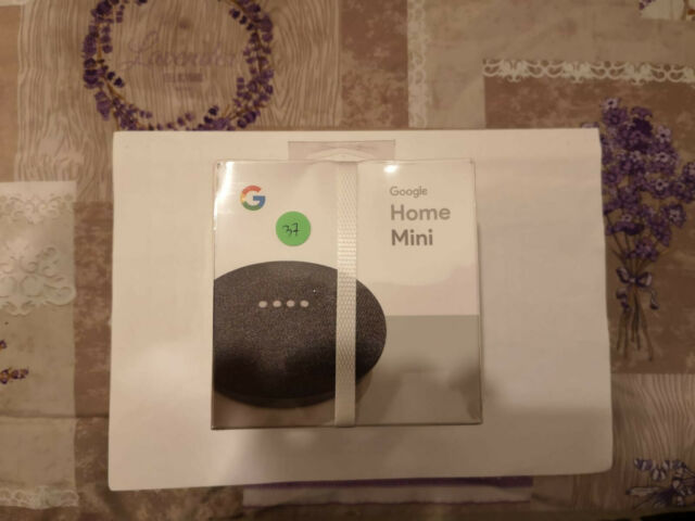GOOGLE HOME MINI ASSISTENTE VOCALE VERSIONE ORIGINALE GOOGLE COLORE NERO