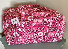 New Vera Bradley Large Duffel Bag BLUSH PINK Travel Weekender Luggage $85
