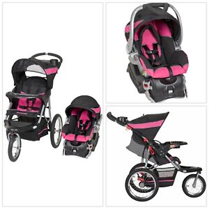 PINK 3-In-1 Baby Trend Jogger Stroller Buggy Travel System ...