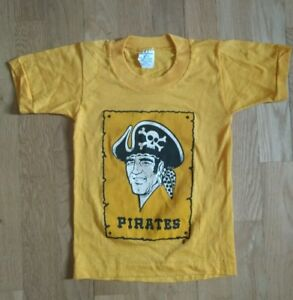 timeless design 51258 70aec Details about RARE Vintage Pittsburgh Pirates T Shirt, Kids 6-8