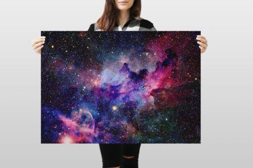 A1Pink Nebula Poster Art Print 60 x 90cm 180gsm Galaxy Space NASA Gift #8545