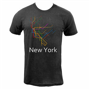 Nyc Subway Map T Shirt.Details About New York Subway Tri Black American Apparel Nyc Subway Transit Map T Shirt