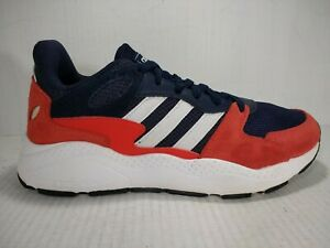 Details about ADIDAS Woman's Cloudfoam Sneakers Size 7 Red/White/Blue Suede/Synthetic