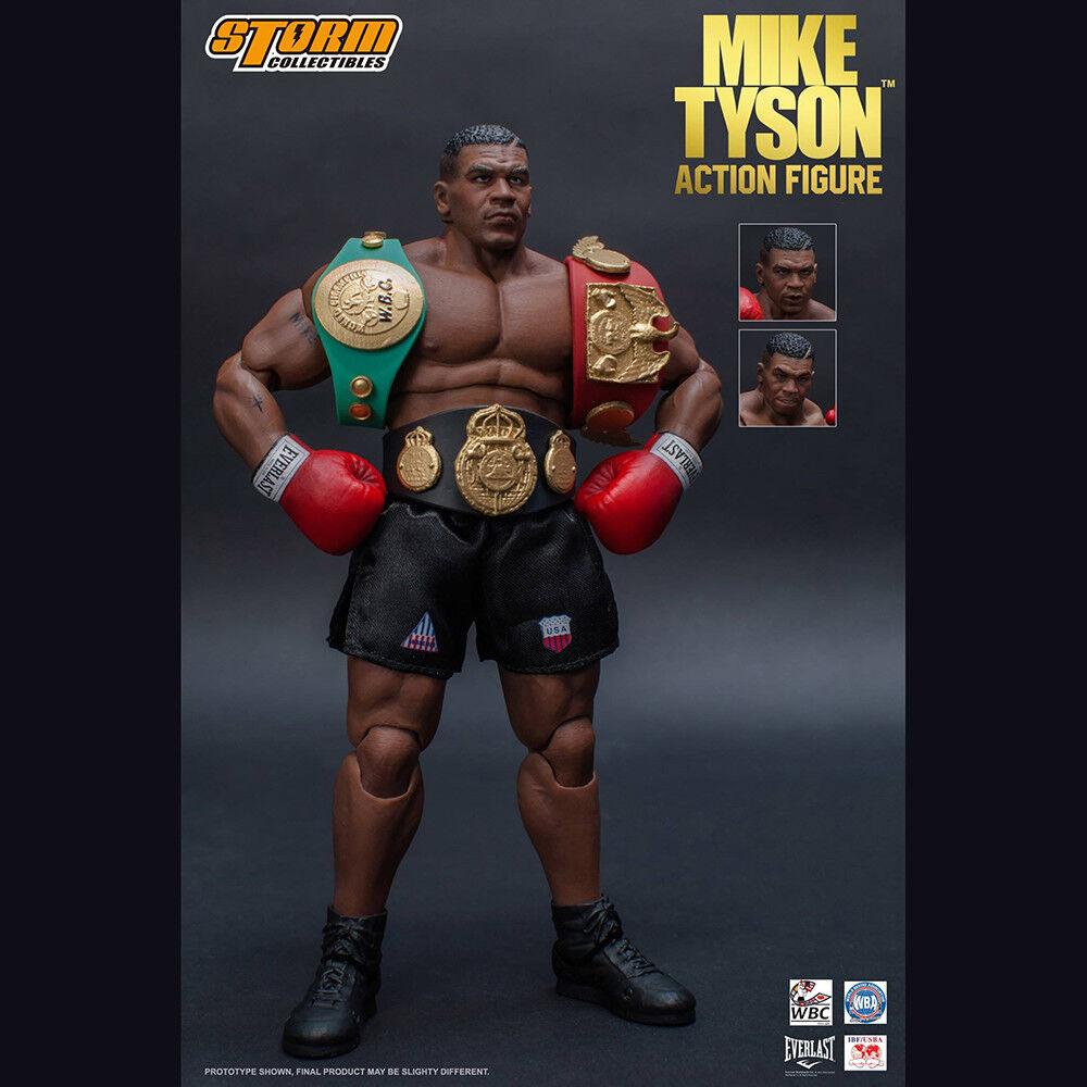 Storm Toys Boxing Champion Mike Tyson Action Figure 1 12 Head Sculpts 3 Pcs New