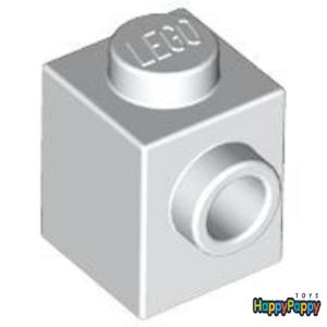 Lego 6x Konverter Stein Noppe einseitig 1x1 Weiß White Brick Stud 87087 Neu New