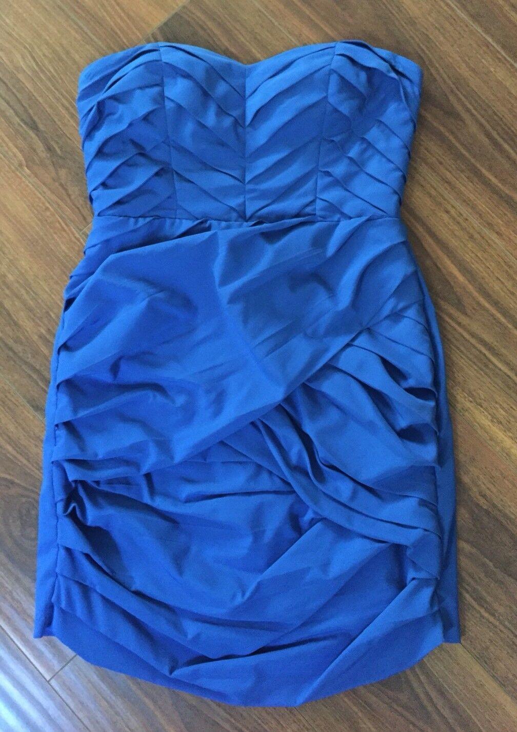 Bloomingdales Aqua Solid Blau Sweetheart Strapless Sexy Cocktail Dress Sz S