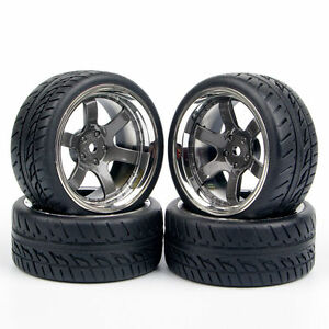 RC-4Pcs-Set-Tires-and-Wheels-Rim-12mm-Hex-For-HPI-HSP-1-10-On-Road-Racing-Car