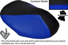 BLACK & R BLUE CUSTOM FITS YAMAHA AEROX YQ 50 100 99-10 FRONT LEATHER SEAT COVER