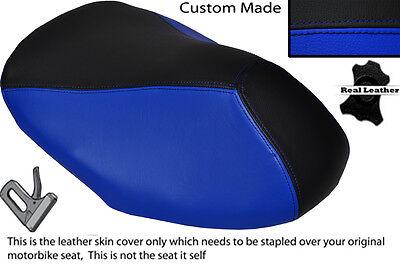 BLACK /& R BLUE CUSTOM FITS YAMAHA AEROX YQ 50 100 99-10 FRONT LEATHER SEAT COVER