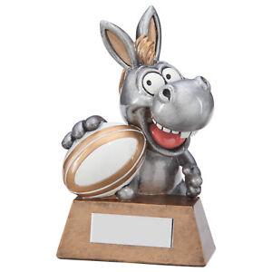 """Résine /""""qu/' un âne!/"""" Rugby Trophées Fun Award 130 mm gravure gratuite"""