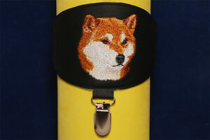 Shiba-Inu-Siba-Inu-arm-band-ring-number-holder-with-clip-For-dog-shows