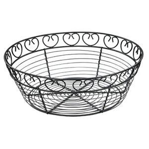 Black Vinyl Cord W// Gold Trim Winware by Winco Bread Basket Oval