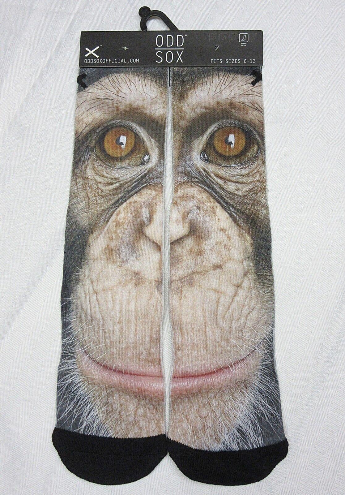 fbc9b151e738e Odd Sox Harambe Gorilla Chimpanzee Fits Sizes 6-13 Crew Socks With Tag