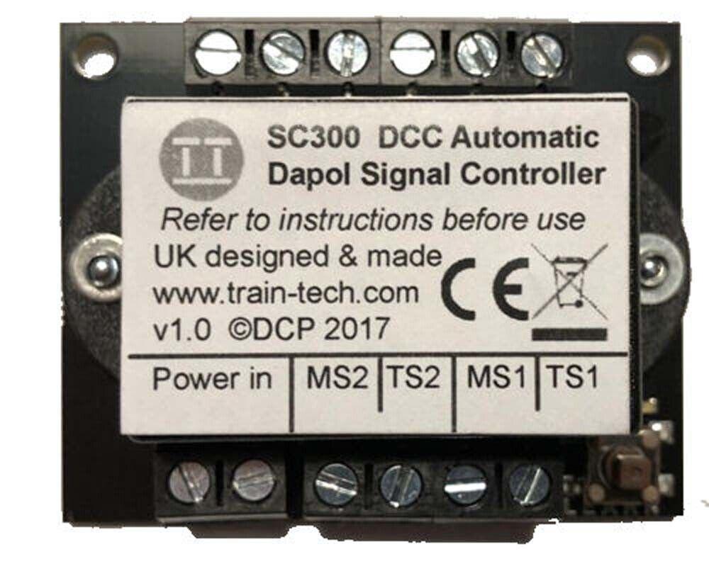 Train Tech DCC Signal Controller - Dual Dapol Semaphore w Inputs N HO OO Gauge