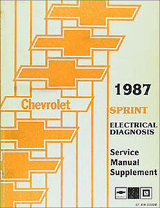1987 Chevy Sprint Electrical Diagnosis Service Manual Wiring