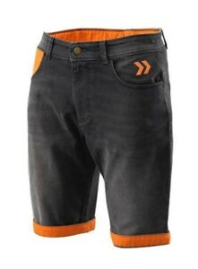 KTM-Mens-Cargo-Shorts-Faded-Grey-Orange-Cotton-Shorts-New-RRP-71-16-3PW176230