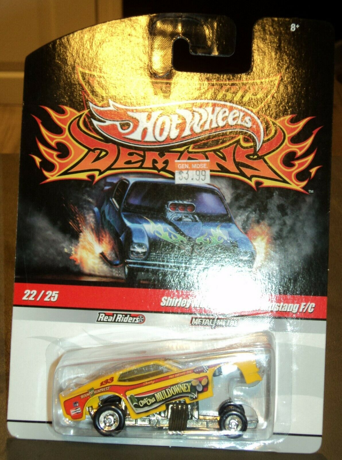 Hot Wheels Drag Strip Demons 2009  22 Shirley Muldowney's Cha Cha 71 Mustang F C