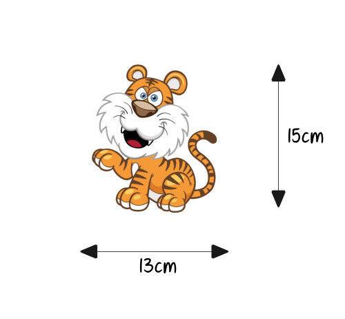 Autoaufkleber Sticker Kinder Aufkleber Kindername Baby Junge Mädchen Tiger