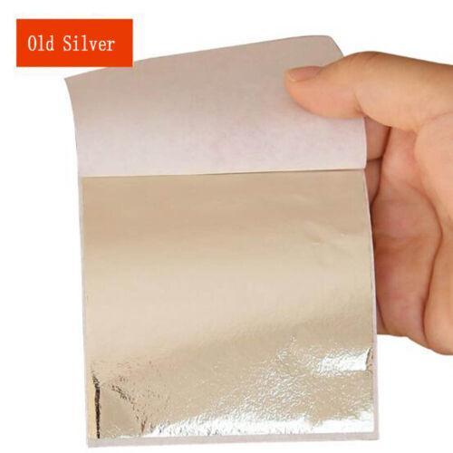 50X 9*9 cm Gold//Silver//Copper Foil Leaf Paper Decor Gilding Craft DIY