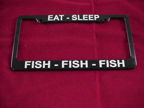 Plaque d/'Immatriculation Cadre Support Eat Sleep Fish POISSON FISH Grande nouvelle