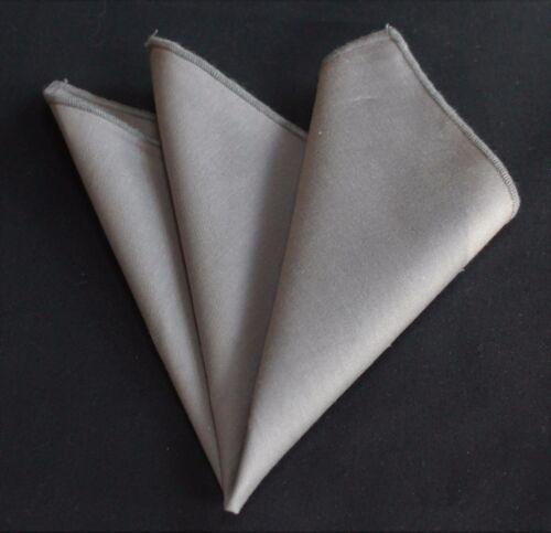 Fazzoletto Tasca SQUARE Fazzoletto di cotone tinta unita grigio CH256