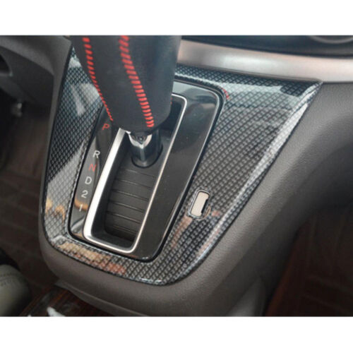 For Honda CRV C-RV 2015 2016 Auto Carbon Fiber Style Gear Shift Panel Cover Trim