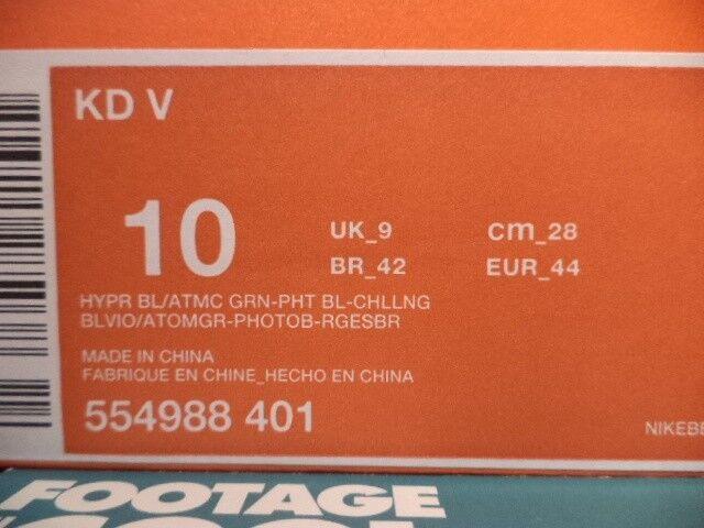 nike zoom kevin durant 2012 kd / 5 weihnachten blau 554988-401 - grün - rot 554988-401 blau 10. 98ca91