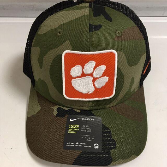 NIKE Clemson Tigers Baseball Hat Ball Cap Adjustable Unisex Camo/Black NEW NWT