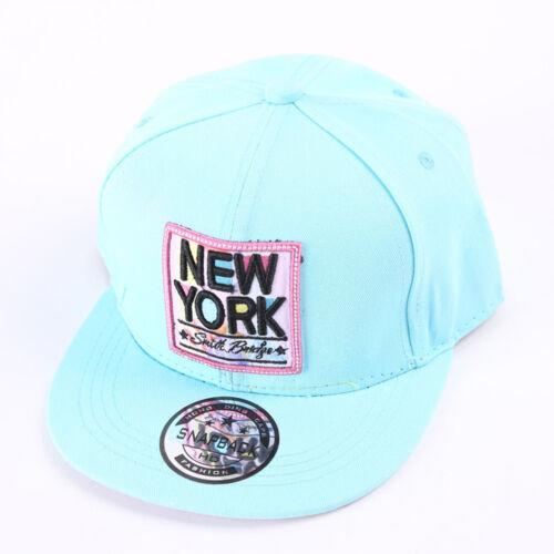 Summer Embroidery Kids Baseball Cap NEW YORK Girls Sun Hat Flat Brim Hip-hop Hat