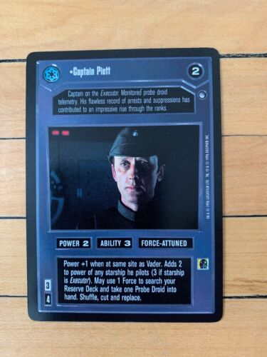 Star Wars CCG Captain Piett HOTH BB
