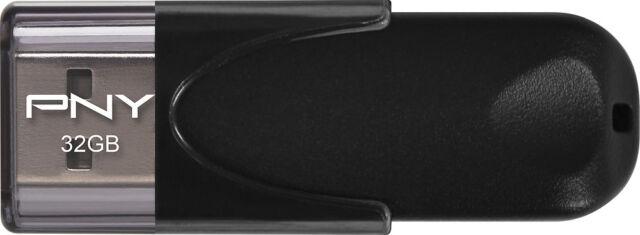 PNY - Attach 4 32GB USB 2.0 Flash Drive - Black