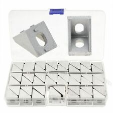 New Listing46pcsbox 2020 Corner Bracket Aluminium Angle Bracket Fastener For 3d Printer