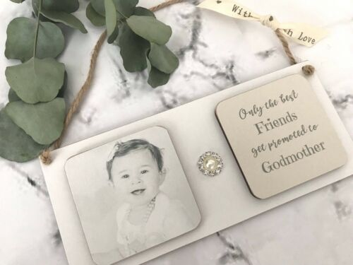 Personalised Photo Gift Friend Godmother Keepsake Plaque Wall Hanging  P952
