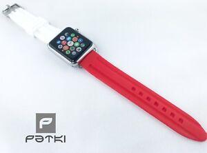 ️ Silikon Armband für Apple Watch ( 38mm ) weiß / rot Fußball Fan München ️ - Werneuchen, Deutschland - ️ Silikon Armband für Apple Watch ( 38mm ) weiß / rot Fußball Fan München ️ - Werneuchen, Deutschland
