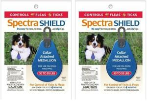 2-Pack-Spectra-Shield-Flea-amp-Tick-Controll-Collar-Medallion-Dogs-30-55-lbs