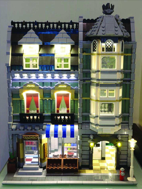 LED Lighting kit for LEGO ® Grün Grocer Set 10185 - SHIPS FROM USA