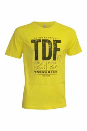 Velolove Vintage Tour De France Yorkshire 2014 Men/'s Organic Medium T-Shirt