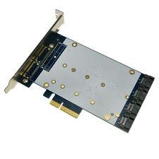 4 PORT SATA III PCIe card RAID (MARVELL 88SE9230) Desktop SATA3.0 expansion card