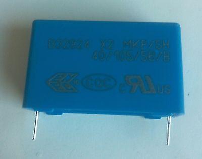 2 condensateurs 1µF 1uF 300v 305v X2 MKP SH B32924 10/% tolérance EPCOS