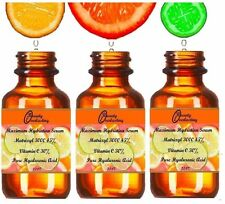 2.2 oz 100% Hyaluronic acid,30% Vitamin C,45% *Matrixyl 3000. The BEST Serum!!!