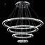Modern-LED-Crystal-Round-Ring-Chandelier-Pendant-Lamp-Ceiling-Lights-Adjustable miniature 3