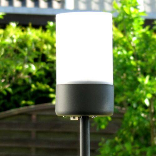 LED Solar-Leuchte 115 cm,Windlicht,Kerzenschein,kein Kabel,Lüster,Garten-Stecker
