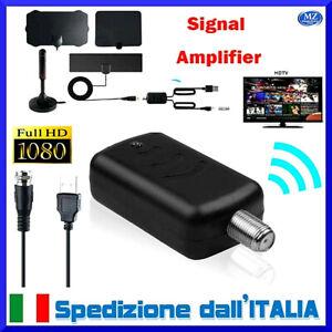 Amplificatore antenna tv da interno segnale digitale Full hd vhf uhf cavo USB