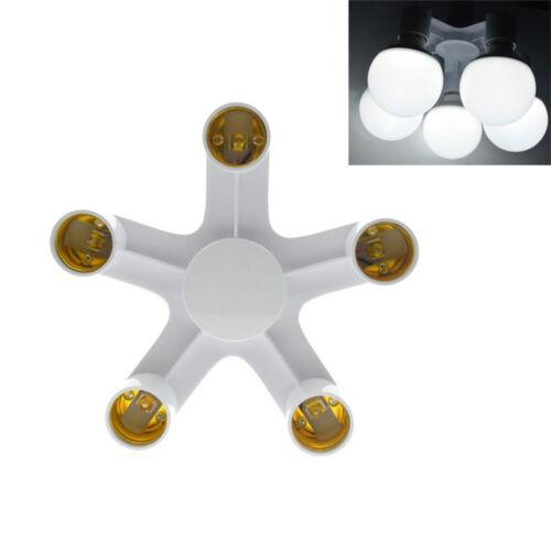 LED Light E27 To E27 Base Socket Splitter Lamp Socket Bulb Adapter Holder