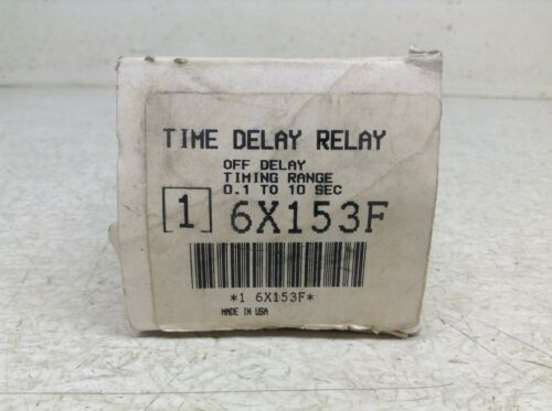 Dayton 6X153F Solid State Off Time Delay Relay Interval .1-10 Sec New TB
